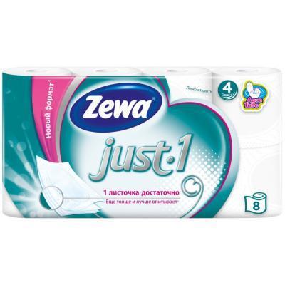 Туалетная бумага Zewa Just 1 8 рулонов (7322541045351)
