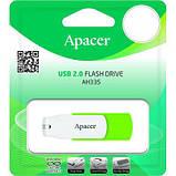 USB флеш накопитель Apacer 32GB AH335 Green USB 2.0 (AP32GAH335G-1), фото 4