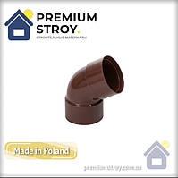 Коліно двухраструбное діаметр 100 мм 60 градусів водостічної системи Profil 130 мм Польща