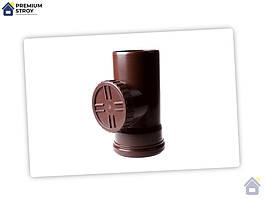 Ревізія з гратами 100 мм водостічної системи Profil 130 мм Польща