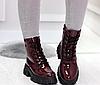 Ботинки женские белые из лаковой эко-кожи, фото 6