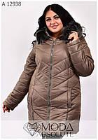Женская теплая куртка размеры 54-68, фото 1