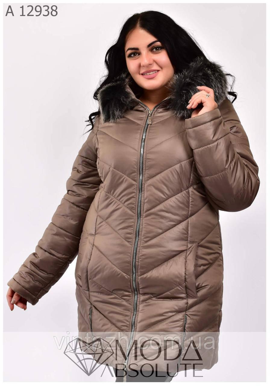 Женская теплая куртка размеры 54-68