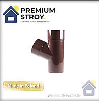 Трійник 67° коричневий Profil 130/100