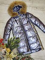 Крутая теплая куртка для девочки размеры 140-164
