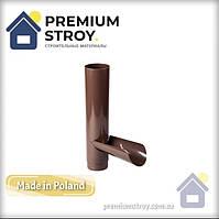 Отвод для сбора воды коричневый 130/100 Profil, фото 1