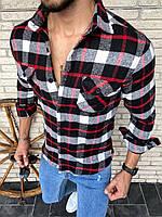 Трендовая мужская рубашка из турецкого кашемира