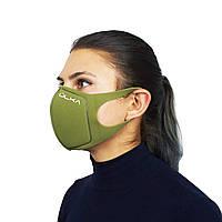 Многоразовая защитная угольная маска ULKA (Хаки)