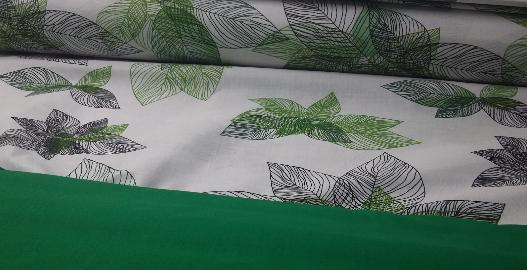 """Семейный комплект постельного белья ТМ """"Ловец снов"""", Зеленые листья"""