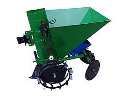 Картофелесажалка 35л с бачком для удобрений к мотоблоку, мототрактору. Колеса на подшипниках КСН-1Б