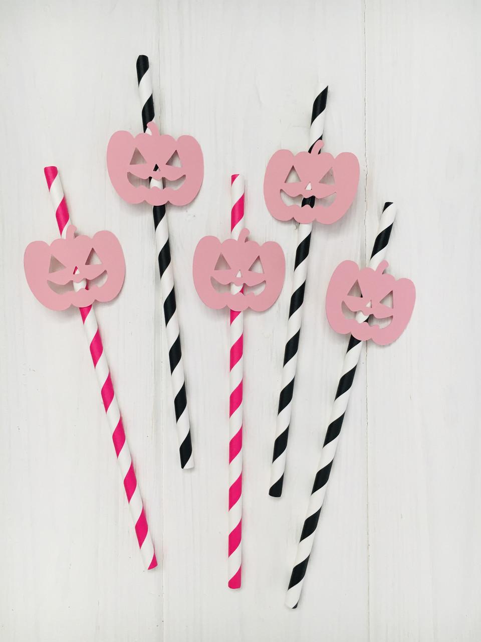 "Паперові трубочки ""Halloween Pink"" (10 шт.)"