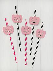"""Бумажные трубочки """"Halloween Pink """" (10 шт.)"""