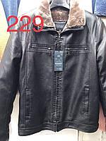 """Мужские зимние куртки из кожзама на меху (р.р. 48-60 норма) Китай, от 7 шт. """"MK-819"""""""