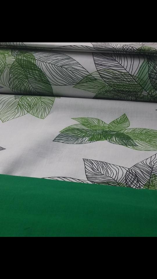 """Комплект евро постельного белья ТМ """"Ловец снов"""", Зеленые  листья"""