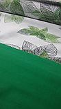"""Комплект евро постельного белья ТМ """"Ловец снов"""", Зеленые  листья, фото 4"""