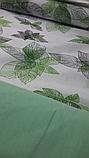 """Комплект евро постельного белья ТМ """"Ловец снов"""", Зеленые  листья, фото 3"""
