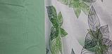 """Комплект евро постельного белья ТМ """"Ловец снов"""", Зеленые  листья, фото 2"""