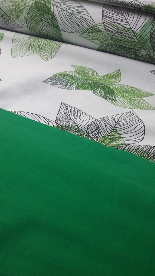 """Комплект полуторный постельного белья ТМ """"Ловец снов"""", Зеленые листья"""