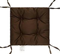 """Подушка на стул с завязками 40х40х5 """"COLOR"""" (коричневая), фото 1"""