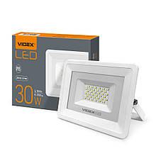 Прожектор 30W LED білий 5000K 220V 2700Lm VIDEX