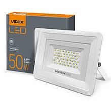 Прожектор 50W LED білий 5000K 220V 4500Lm VIDEX