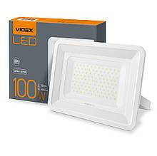 Прожектор 100W LED білий 5000K 220V 9000Lm VIDEX