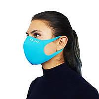 Многоразовая защитная маска ULKA Голубая