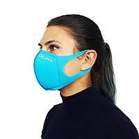 Многоразовая защитная угольная маска ULKA (Голубая)