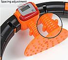 ОПТ Массажный обруч Pro Massaging Hula Hoop умный хулахуп тренажер со счетчиком для похудения портативный, фото 3