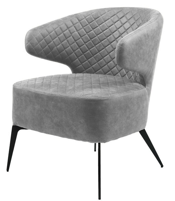 Кресло лаунж Keen серый стил грей (114035) ткань Concepto