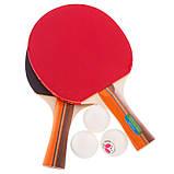 Ракетки для настольного тенниса с чехлом 2шт+ 3 мячика Replika BUT B-206, фото 7