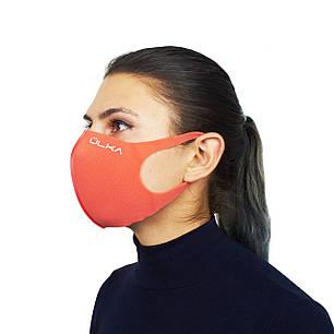 Многоразовая защитная маска ULKA Коралловая, фото 2