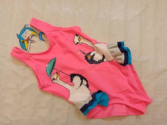 Купальник  слитный детский 911 Зонтик TERES розовый (В НАЛИЧИИ ТОЛЬКО  28 30 32 34  размеры), фото 2