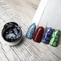 Гель краска черная для стемпинга на ногтях