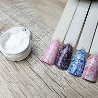 Гель краска белая для стемпинга на ногтях