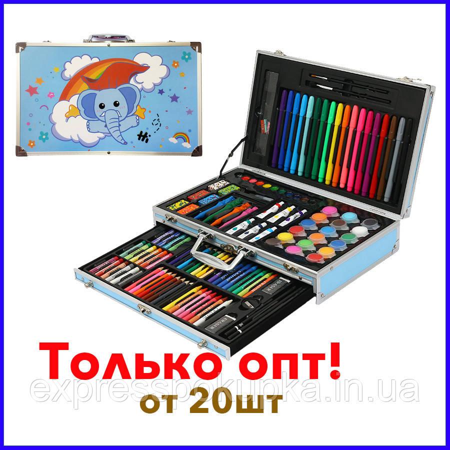 Дитячі набори для малювання оптом в алюмінієвому валізі Mega Art Set 123 предмета | Набір для творчості опт