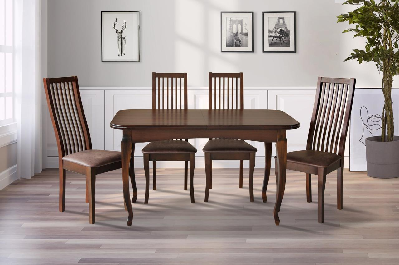 Стол обеденный Соренто 130-170 см (темный орех)