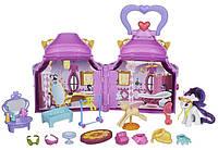 Переносной домик 3 в 1 с пони Рарита +20 предметов My Little Pony Cutie Mark Magic Rarity Booktique