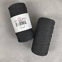 Шнур для макраме. хлопок  4 мм Цвет Черный