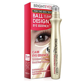 Сироватка для шкіри навколо очей з гіалуронової кислотою і екстрактом перлів з роликом BIOAQUA 15 мл