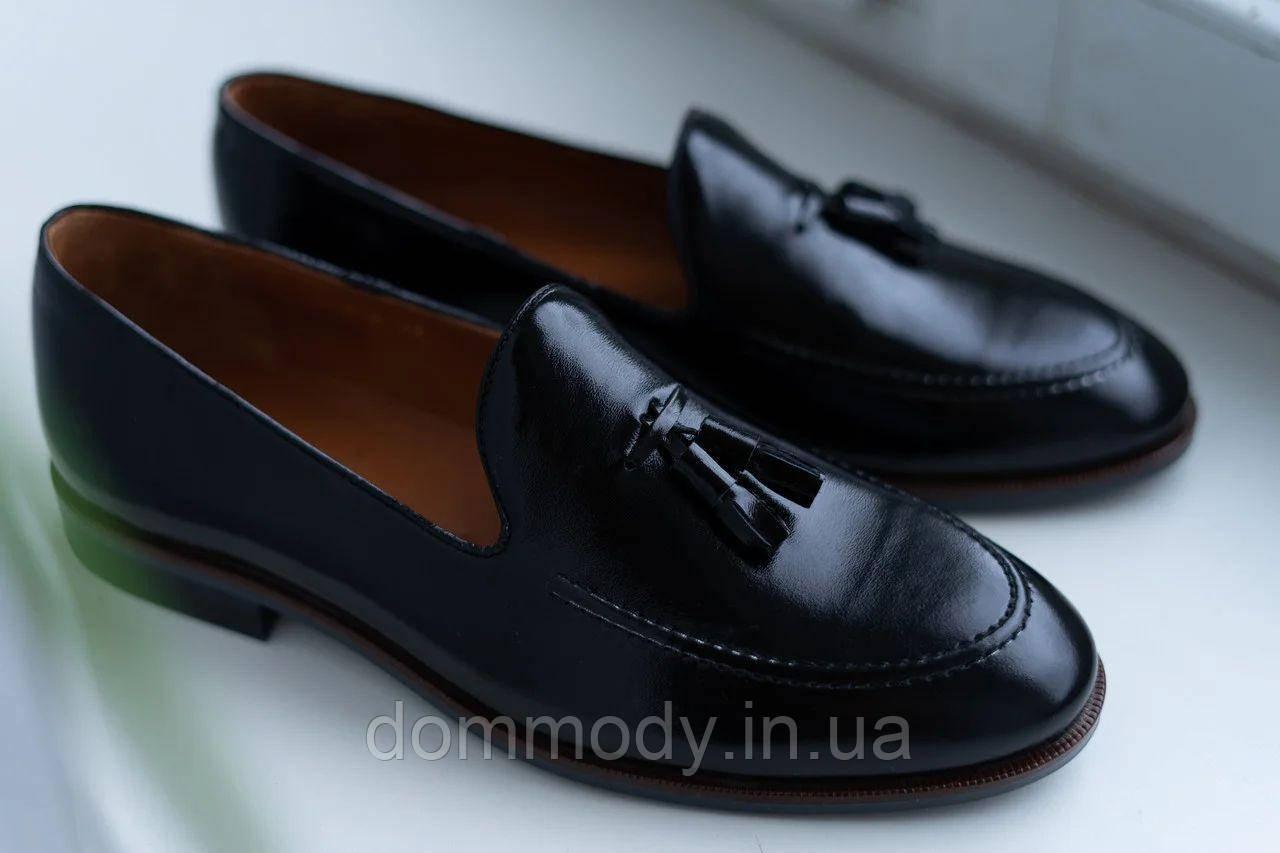 Туфли лоферы мужские из кожи Modern