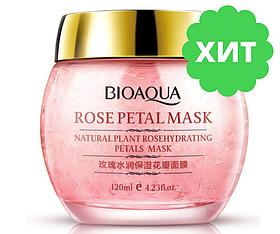 Нічна пом'якшувальна маска з пелюстками троянди Bioaqua Rose Petal Mask