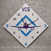 Настенные часы с вашим логотипом. Ромб