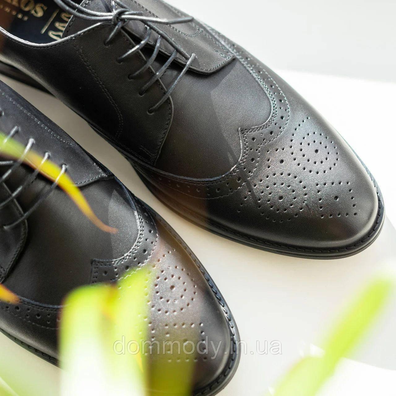 Туфли броги мужские из кожи Modern