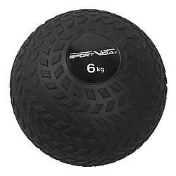 Слэмбол (медицинский мяч) для кроссфита SportVida Slam Ball 6 кг SV-HK0348 Black для дома и спортзала