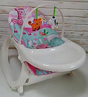 Шезлонг-качалка 2в1 Bambi Newborn to Toddler Portable Rocker 7188 музичний