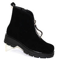 Демисезонные черные ботинки женские