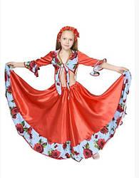 Карнавальный костюм ЦЫГАНКА, ЦЫГАНОЧКА для девочки 7,8,9,10 лет, детский костюм ЦЫГАНКИ, ЦЫГАНОЧКИ
