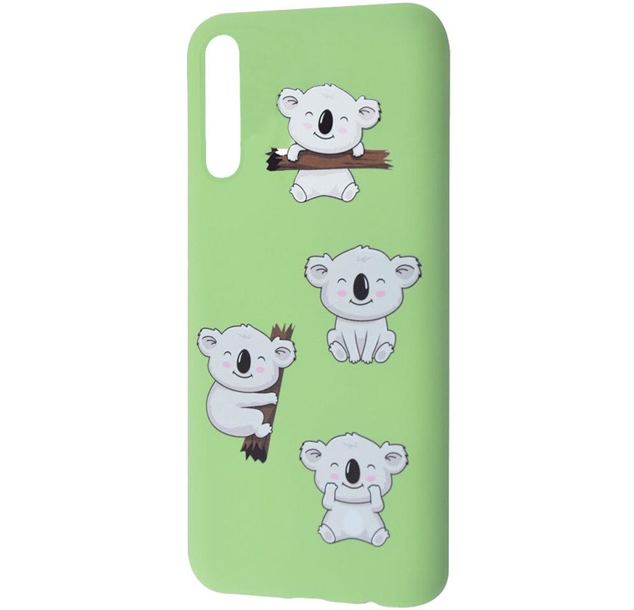 Чехол-накладка TPU WAVE Fancy Case для Samsung Galaxy A50 (2019) SM-A505F Mint Gum (Koala)