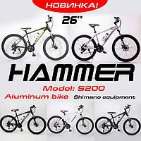 """Велосипед Спортивний """"S200 HAMMER"""" Колеса 26""""х2,25, Рама 17"""". Аллюмінієвий. 5 кольорів., фото 1"""